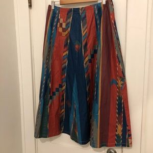 VTG Skirt Boho Aztec SW Festival Party Wear